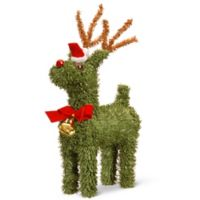 National Tree Company 8-Inch Pine Reindeer with Bell