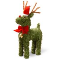 National Tree Company 12-Inch Pine Reindeer with Bell