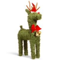 National Tree Company 16-Inch Pine Reindeer with Bell