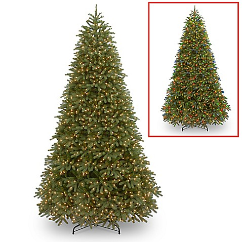 Feel Real® Jersey Fraser Fir Pre-Lit Christmas Tree with 1000 Dual ...