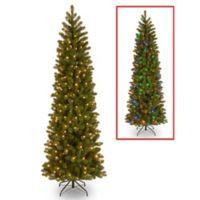 National Tree Company 7.5-Foot Downswept Douglas Fir Pencil Slim Christmas Tree w/Dual Color Lights