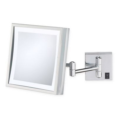 Buy magnifying mirrors from bed bath beyond kimball young 3x led magnifying square mirror in chrome aloadofball Images