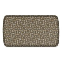 GelPro Elite Decorator New Leaves 20-Inch x 36-Inch Kitchen Mat in Taupe