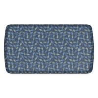 GelPro Elite Decorator New Leaves 20-Inch x 36-Inch Kitchen Mat in Deep Sea