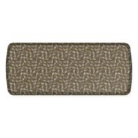GelPro Elite Decorator New Leaves 20-Inch x 48-Inch Kitchen Mat in Taupe