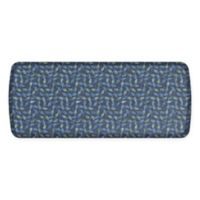 GelPro Elite Decorator New Leaves 20-Inch x 48-Inch Kitchen Mat in Deep Sea