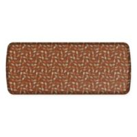 GelPro Elite Decorator New Leaves 20-Inch x 48-Inch Kitchen Mat in Amber