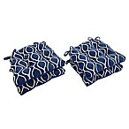 Arlee Home Fashions® Geometric Chair Pads in Sapphire (Set of 4)