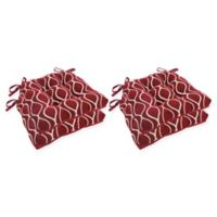 Arlee Home Fashions® Geometric Chair Pads in Burgundy (Set of 4)