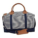 CB Station Color Weekender Bag in Navy Stripe