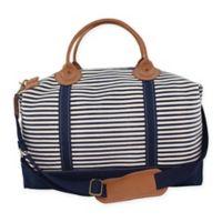 CB Station Color Weekender Bag in Navy Stripe