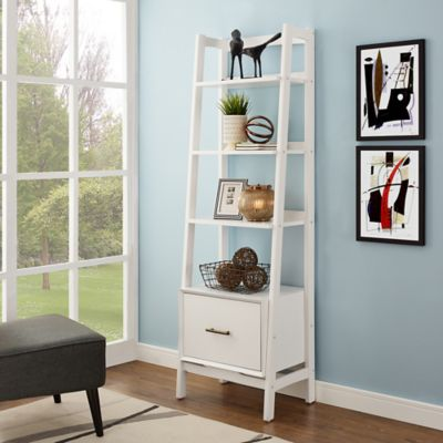 crosley furniture landon large etagere in white