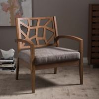 Baxton Studio Jennifer Lounge Chair in Gravel