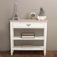 Baxton Studio Dauphine Console in White/Light Brown