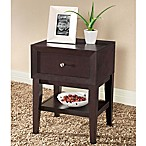 Baxton Studio Gaston Nightstand in Dark Brown