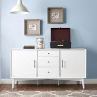 Crosley Landon Mid-Century Modern Style Buffet in White