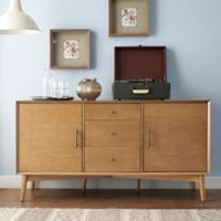 Crosley Landon Mid-Century Modern Style Buffet in Acorn