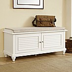 Crosley Furniture Palmetto Bench in White