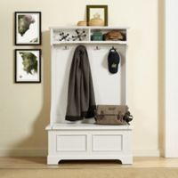 Crosley Furniture Campbell Hall Tree in White