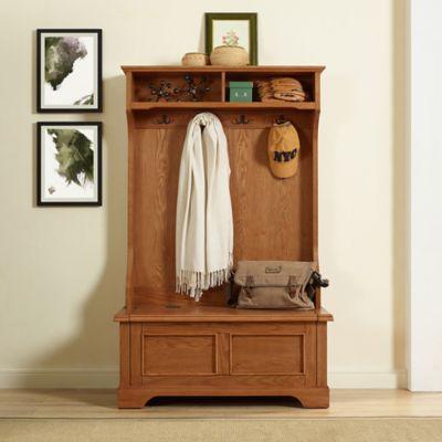 Buy Crosley Adler Entryway Bench In Warm Oak From Bed Bath Beyond