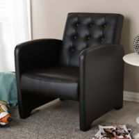 Baxton Studio Jazz Upholstered Club Chair in Black