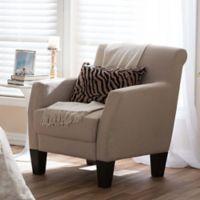 Baxton Studio Silhouettes Club Chair in Beige