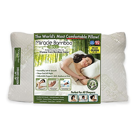 miracle deluxe pillow bed bath beyond With bed bath and beyond miracle bamboo pillow