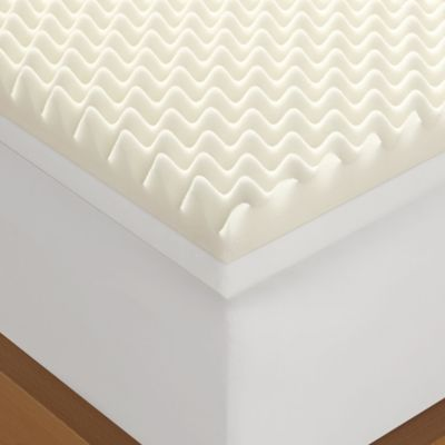 serta 4inch memory foam california king mattress topper in white