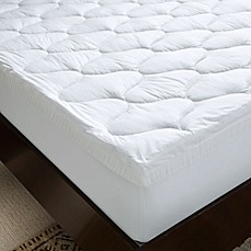 serta 4 inch dual layer gel memory foam mattress topper bed bath beyond. Black Bedroom Furniture Sets. Home Design Ideas