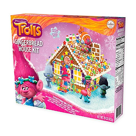 gingerbread house kits dreamworks 174 trolls gingerbread house kit bed bath amp beyond 30431