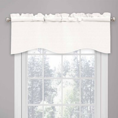 Captivating Room Decor U003e SolarShield® Kate Rod Pocket Room Darkening Valance In White