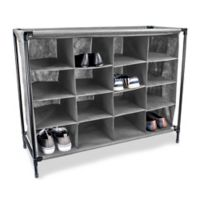 Sunbeam 16-Pocket Shoe Organizer in Grey