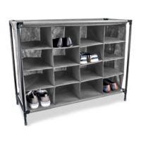 Sunbeam 16-Pocket Shoe Organizer in Grey