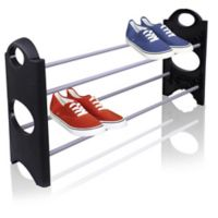 Sunbeam® 10-Shelf Shoe Organizer in Black