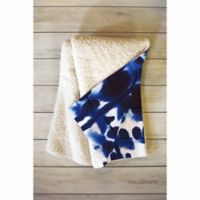 DENY Designs 80-Inch x 60-inch Jacqueline Maldonado Parallel Fleece Throw Blanket in Blue
