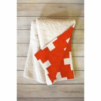 DENY Designs 60-Inch x 50-Inch Holli Zollinger Vermillion Plus Fleece Throw Blanket in Red