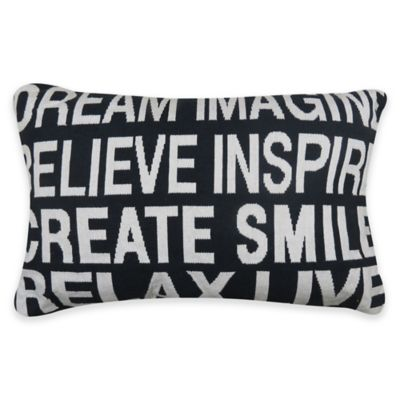park b smith inspire tapestry oblong throw pillow in indigo