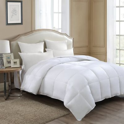 J. Queen New York Twin Down Comforter In White