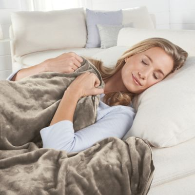 brookstone® weighted blanket in taupe - bed bath & beyond