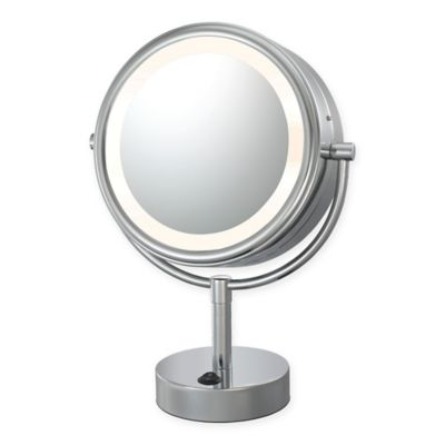 Kimball   Young Neo Modern 1X 5X LED Makeup Mirror in Polished Nickel. Buy Makeup Mirrors from Bed Bath   Beyond