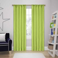 SolarShield® Kate 84-Inch Rod Pocket Room Darkening Window Curtain Panels in Lime
