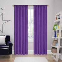 SolarShield® Kate 95-Inch Rod Pocket Room Darkening Window Curtain Panel in Purple