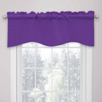 SolarShield® Kate Rod Pocket Room Darkening Valance in Purple