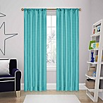 SolarShield® Kate 63-Inch Rod Pocket Room Darkening Window Curtain Panels in Turquoise