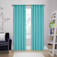 SolarShield® Kate 84-Inch Rod Pocket Room Darkening Window Curtain Panels in Turquoise
