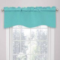 SolarShield® Kate Rod Pocket Room Darkening Valance in Turquoise