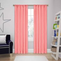 SolarShield® Kate 95-Inch Rod Pocket Room Darkening Window Curtain Panel in Coral