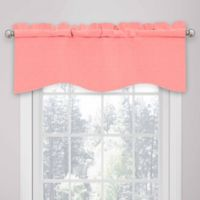 SolarShield® Kate Rod Pocket Room Darkening Valance in Coral