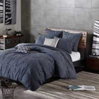INK+IVY Masie King/California King Duvet Cover Set in Navy