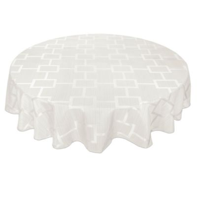 origins tribeca microfiber 60inch round tablecloth in white